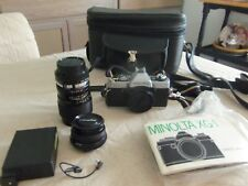 Minolta XG-1 35mm SLR with lens and case