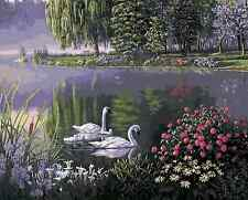 Paint By Numbers Kit Canvas 50*40cm 8131 Swan Lake @AU Stock