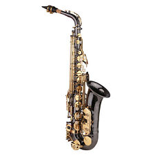 More details for saxophone eb e-flat alto saxophone sax nickel-plated brass body with c9z2