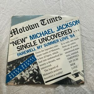 "MICHAEL JACKSON ~ FAREWELL MY SUMMER LOVE b/w CALL ON ME ~ 7"" 1984"
