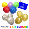 10 Happy Eid Mubarak Decoration Balloons Mixed Colours Islam Ramadan Kids *2019*