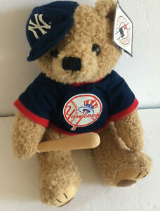 NY YANKEES Teddy Bear Plush Stuffed Animal Good Stuff Baseball MLB 2005 Tags