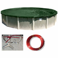 24' Round Supreme Above Ground Swimming Pool Winter Cover - 12 Year Warranty
