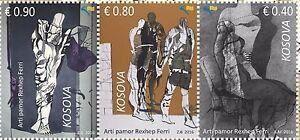 Kosovo Stamps 2016. Visual Art - Rexhep Ferri. Set MNH.