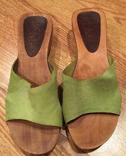 Michael Kors Calf Hair Wooden Platform Shoes Size 8m