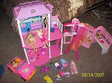 Barbie Lot Dolls Clothes Furniture Accessories Cars Jeep House