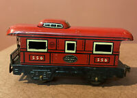 VINTAGE MARX Tin Toy Train Caboose 556  NEW YORK Central  Lines 6""