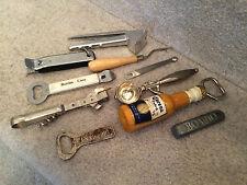 Vintage Lot of 10 Beer Wine Soda Bottle Can Opener Kitchen Tools Scoop Press