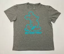 New ListingDisneyana Child's T-Shirt Disney Parks Mickey Mouse Silhouette sz L Gray & Blue