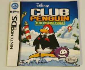 French Francais Club Penguin Elite Force Nintendo DS INSTRUCTION MANUAL ONLY !