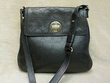 KATE SPADE Black Perforated Logo Leather Shoulder Bag 100% Guaranteed Authentic