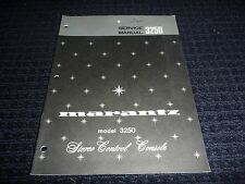 Vtg Original Marantz Service Manual Model 3250 Stereo Control Console