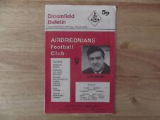 Airdrie v Ayr Scottish First Division 09/10/71