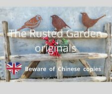 More details for rusty metal garden birds, sparrow, robin, blackbird, blue tit, garden decor  uk