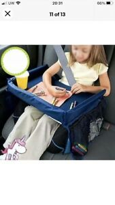 Portable Car Seat Snack And Play Tray New In Box Navy, Washable