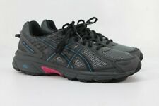 ASICS GEL-Venture 6 Women's Black/Island Blue/Pink Trail Shoe 10M (ZAP3296)