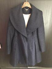 Ted Baker Flared Navy Coat Size 2, 10 UK, RRP329