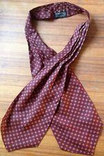 Vintage Tootal Ascot Cravat Mens Burgundy