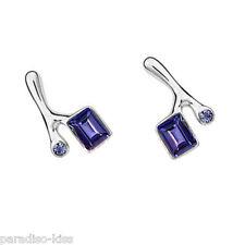 Coppia Orecchini Donna Cristallo SwarovskiI Elements Elegante Violette OR43