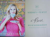 Signed Book Whiskey in a Teacup by Reese Witherspoon Hdbk 2018 1st Edition