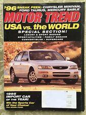 February 1995 Motor Trend BMW 318ti,530i,Corvette Museum,Dodge Challenger'70-'74