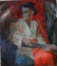 Russian Ukrainian Oil Painting realism male Portrait man Postimpressionism