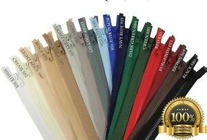 YKK Chunky Vislon Zip #5 Open End Plastic Zipper Single Slider Extra Strong VAT