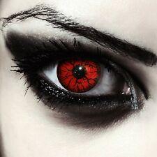 """Rote farbige Halloween Vampir Kostüm Kontaktlinsen ohne Stärke """"Red Monster"""""""