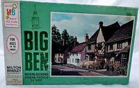 Vintage Milton Bradley Big Ben Interlocking 1000 Piece Puzzle Tudor Inn #4962