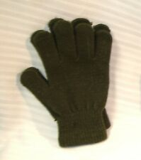 Elementary Boys' ABG Accessories Olive Green Acrylic Winter Gloves One Size NWOT