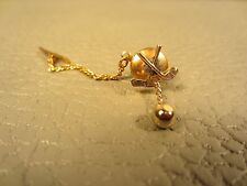 Vintage Golfing Golf Clubs and Golf Ball Yellow Gold Plated Tie Tac