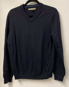 Nordstrom | 100% Extra Fine Merino Wool | Blue Jumper | V-Neck | Size M
