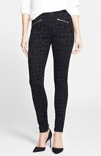 NWT Not Your Daughter's Jeans Ami Super Skinny in Black Flocked Houndstooth 12P