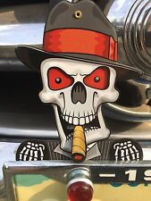 License Plate Toppers  Skull Bulk Deal Metal Lot of Ten eyes and cigar moves