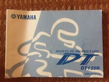YAMAHA DT125R 2001 Owners Manual French Edition