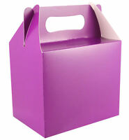 288 Purple Party Boxes - Bulk Buy - Food Loot Lunch Cardboard Gift Wedding/Kids