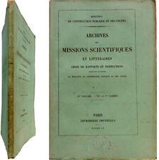 Archives missions scientifiques littéraires rapports 1855 Norvège Suède Danemark