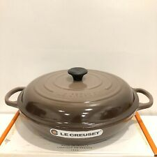 New Le Creuset 5 Quart Truffle Cast Iron Braiser NIB Terre Naturelle
