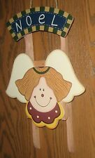 Noel Wooden Angel Sled Wall Hanging - NEW