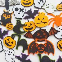 20pcs Random Padded Felt Appliques Patch Craft Halloween Decoration Ghost Bat