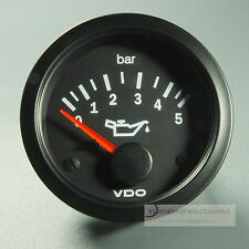 VDO DRUCKANZEIGER 12V 5 BAR  GAUGE  52mm COCKPIT VISION PRESSURE GAUGE MANOMETER