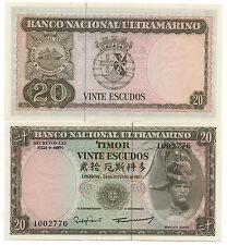 TIMOR PORTUGAL 20 ESCUDOS 1967 PICK 26 UNC