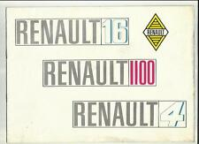 Intervallo RENAULT 1965 BROCHURE DI VENDITA