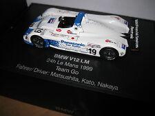 1.43 BMW V12 LM LeMANS 1999 TEAM GO   BMW COLLECTORS MODEL AWESOME DETAIL