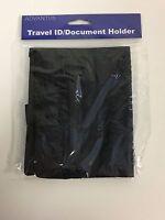 Advantus Travel ID/Document Holder with Lanyard, 5 x 7-3/4 Inches, Black Nylon