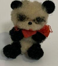Miniatur ARA Panda Bär Arche Österreich Wolltier Wollminiatur Figur Alt Schuco
