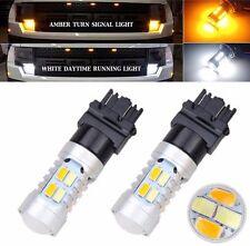2x Dual-Color Switchback 3157 20-SMD-5730 LED Bulbs Turn Signal light Brake