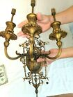 GORGEOUS ANTIQUE FRENCH EMPIRE BRONZE SCONCE w BELLFLOWERS ( 5 Available )