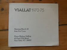 CLAUDE VIALLAT. paintings 1973-75. catalogue d'exposition. New York 1976