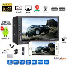 7''2 DIN 8G Android Car Radio GPS+Camera WIFI iOS Mirror Link FM BT AM MP5 Touch
